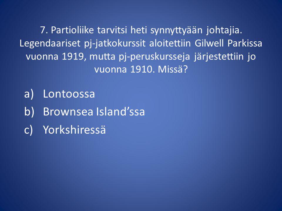 Lontoossa Brownsea Island'ssa Yorkshiressä
