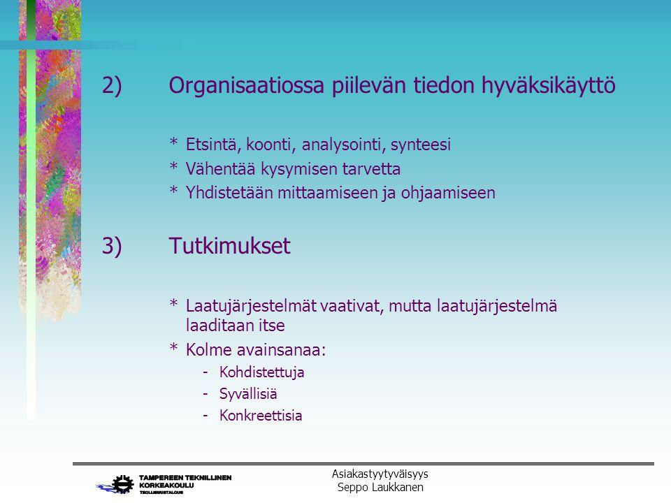 2) Organisaatiossa piilevän tiedon hyväksikäyttö