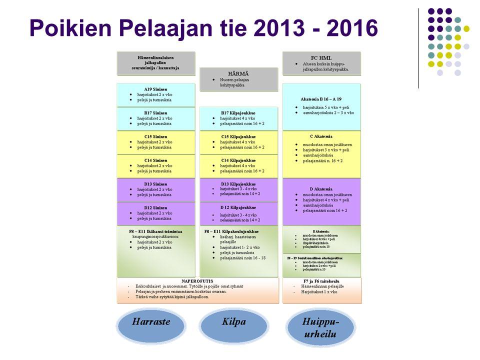 Poikien Pelaajan tie 2013 - 2016