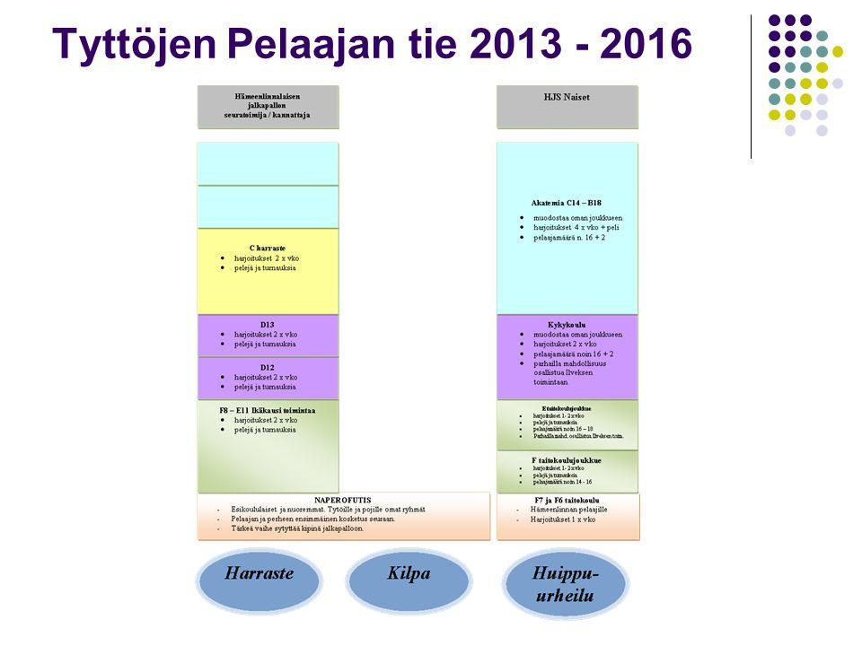 Tyttöjen Pelaajan tie 2013 - 2016