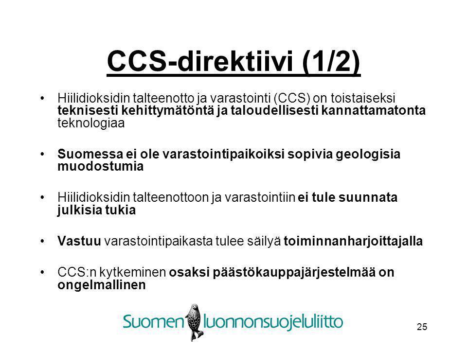 CCS-direktiivi (1/2)