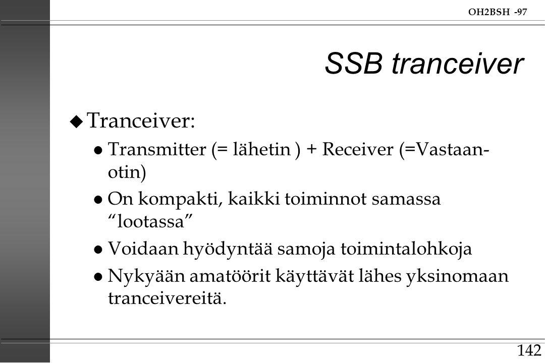 SSB tranceiver Tranceiver: