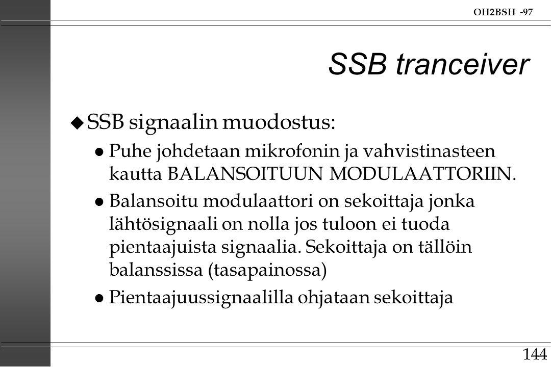 SSB tranceiver SSB signaalin muodostus: