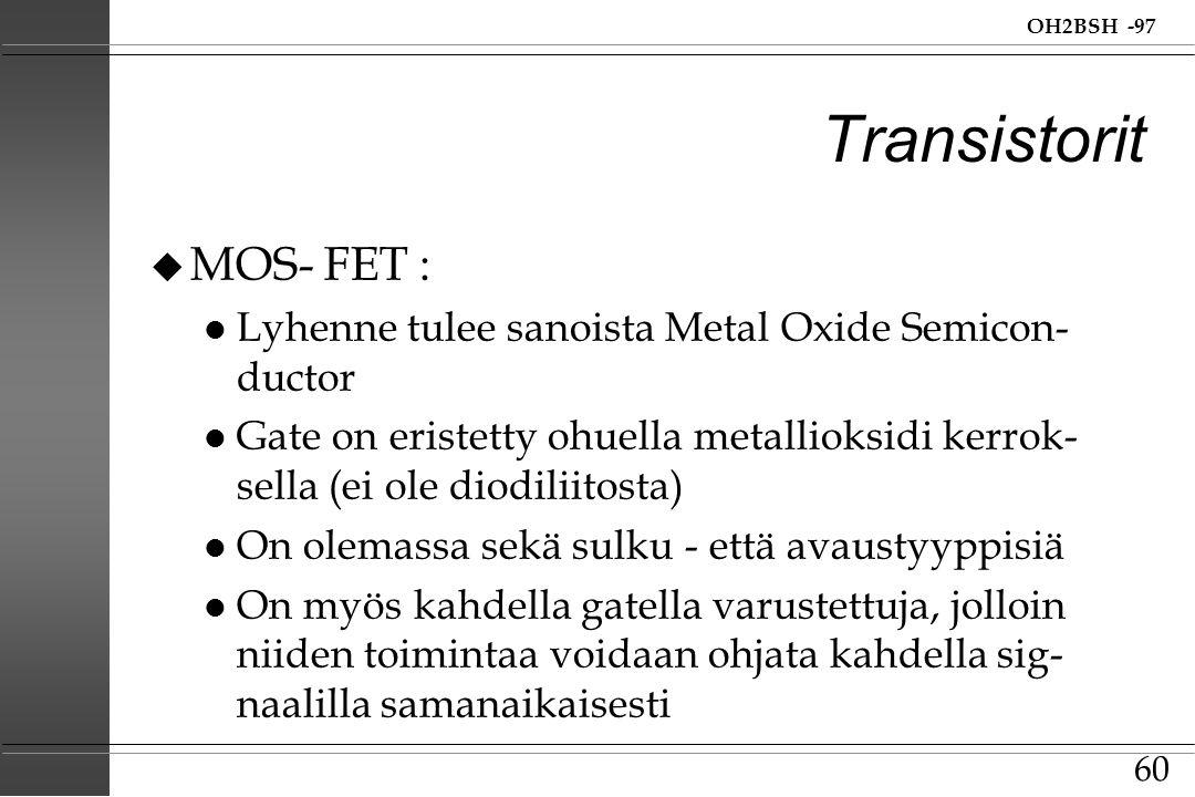 Transistorit MOS- FET :