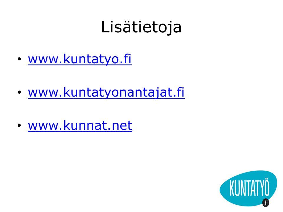 Lisätietoja www.kuntatyo.fi www.kuntatyonantajat.fi www.kunnat.net