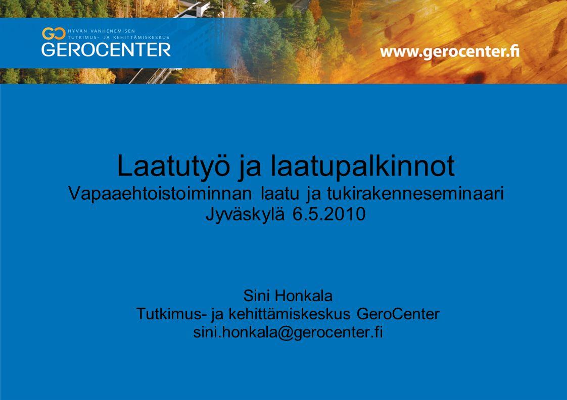Tutkimus- ja kehittämiskeskus GeroCenter
