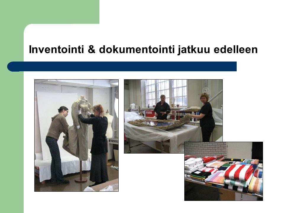 Inventointi & dokumentointi jatkuu edelleen