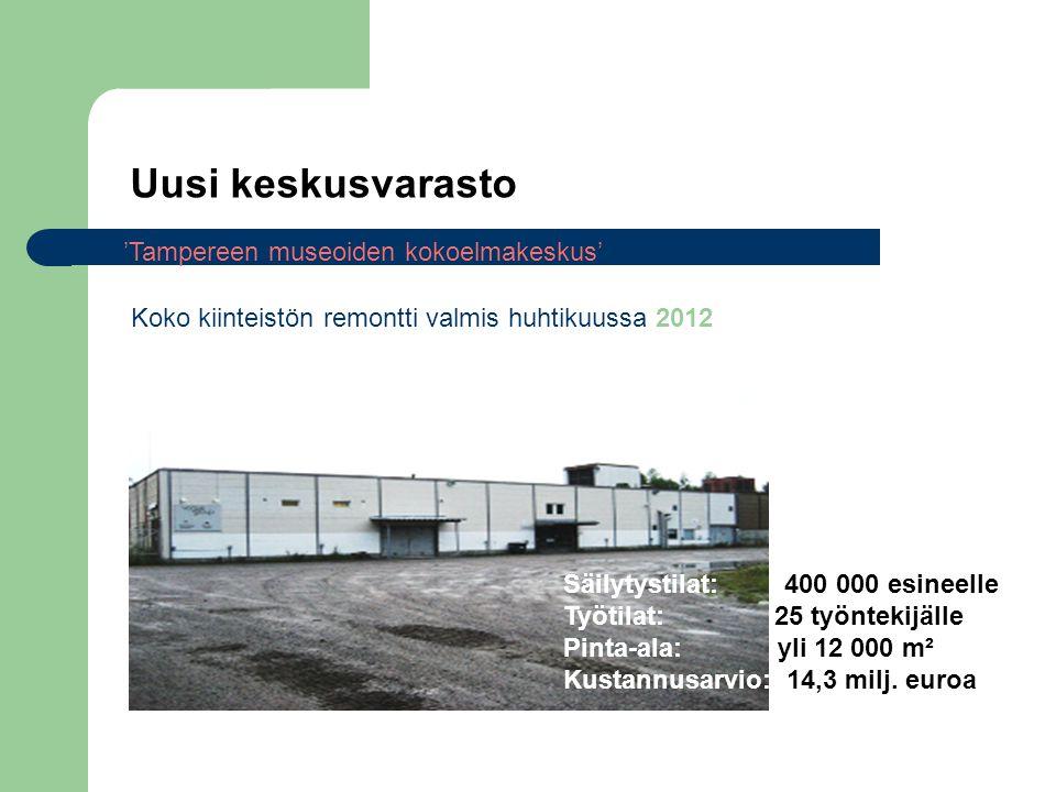 Uusi keskusvarasto 'Tampereen museoiden kokoelmakeskus'