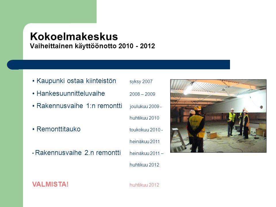Kokoelmakeskus Vaiheittainen käyttöönotto 2010 - 2012