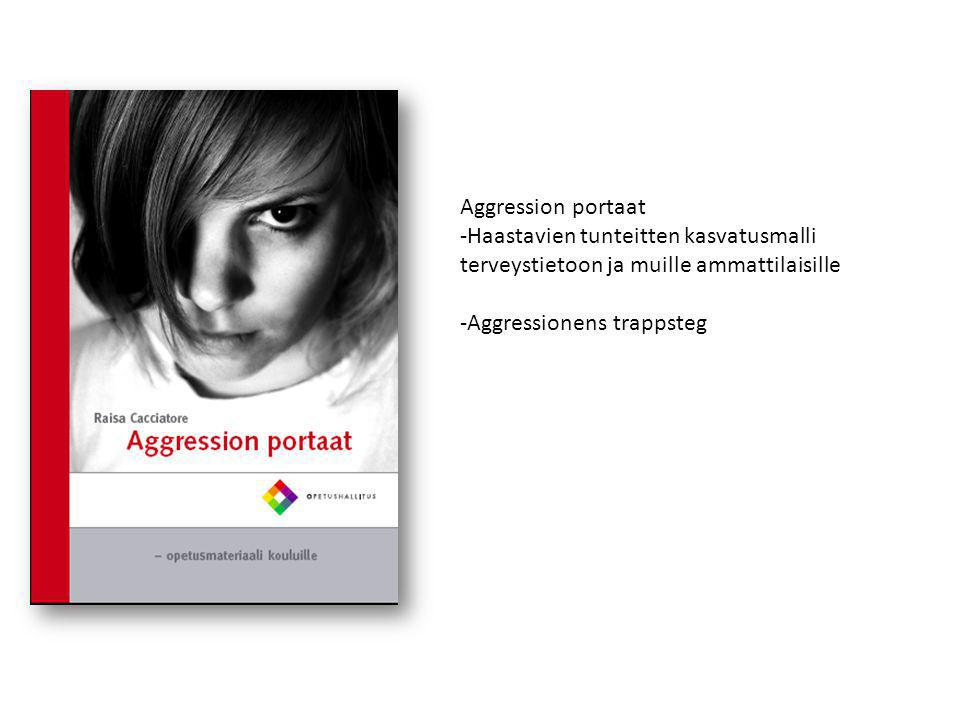 Aggression portaat Haastavien tunteitten kasvatusmalli terveystietoon ja muille ammattilaisille.