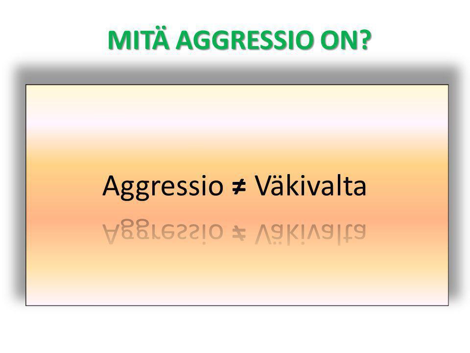 MITÄ AGGRESSIO ON Aggressio ≠ Väkivalta