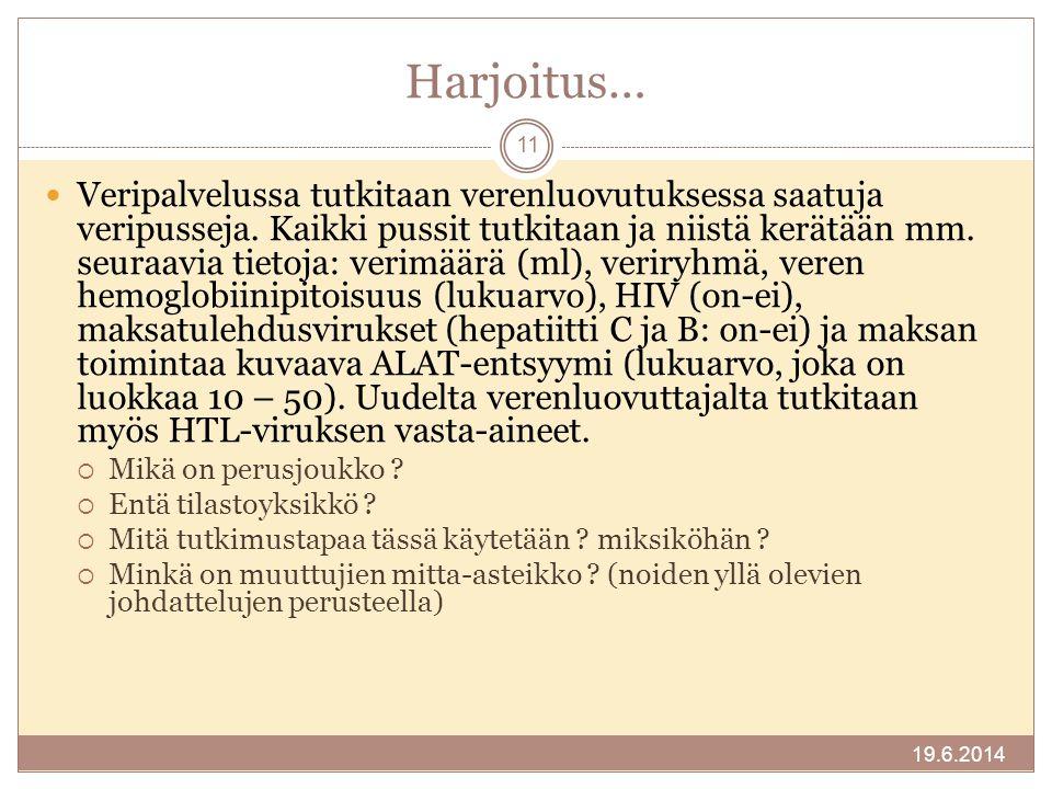 Harjoitus…