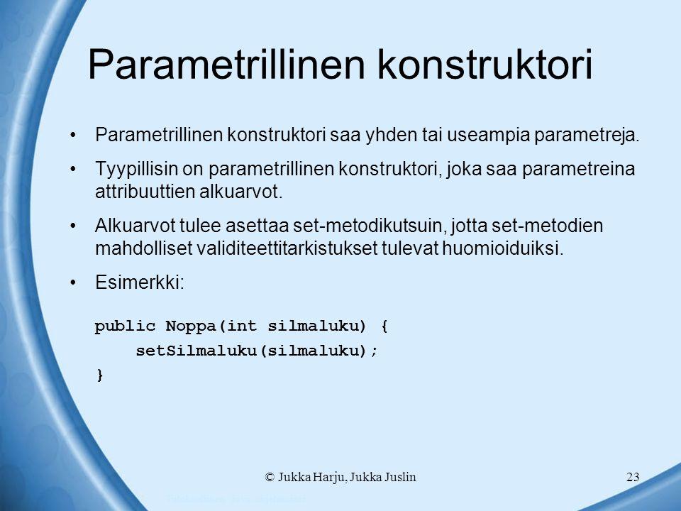 Parametrillinen konstruktori