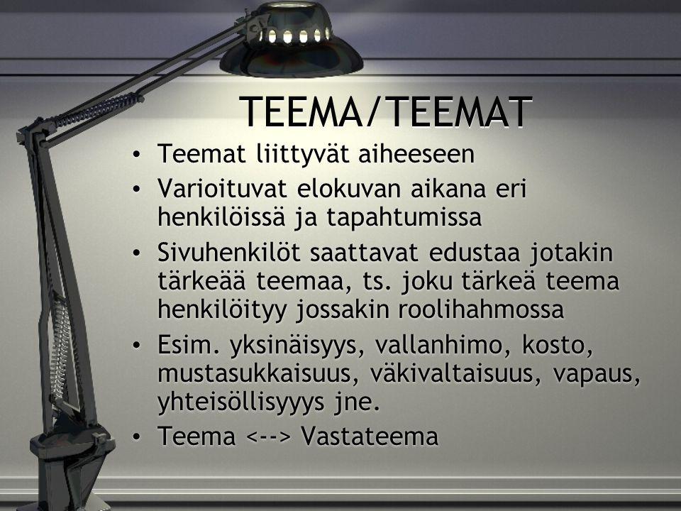 TEEMA/TEEMAT Teemat liittyvät aiheeseen