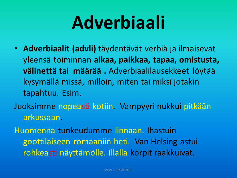 Adverbiaali