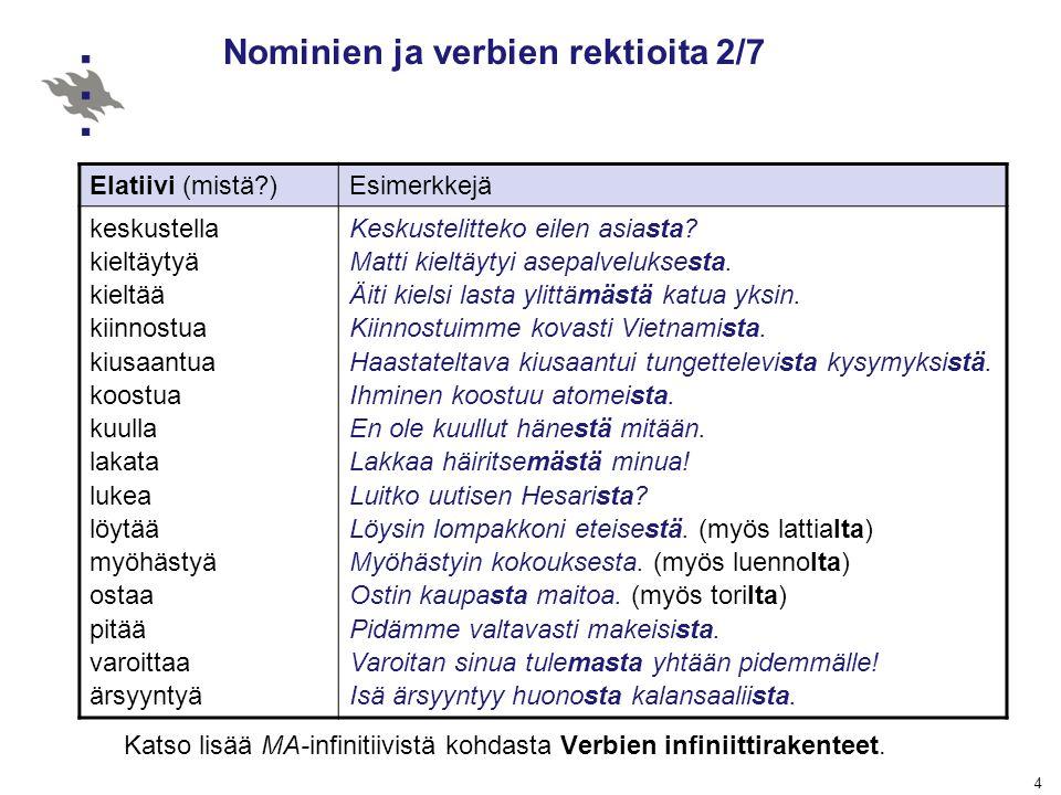 Nominien ja verbien rektioita 2/7
