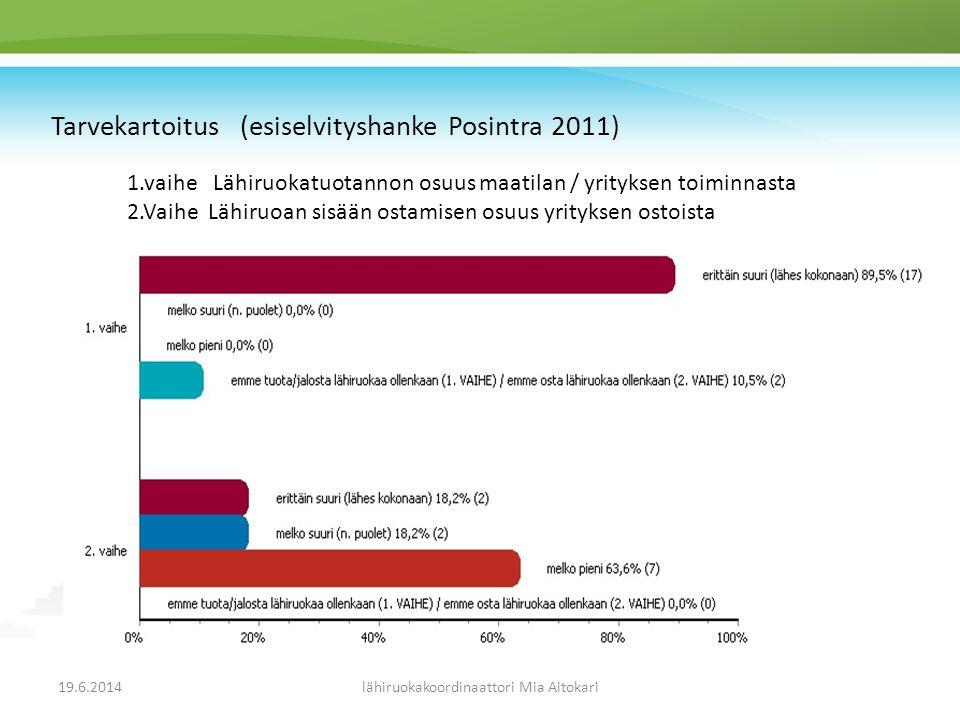 Tarvekartoitus (esiselvityshanke Posintra 2011)