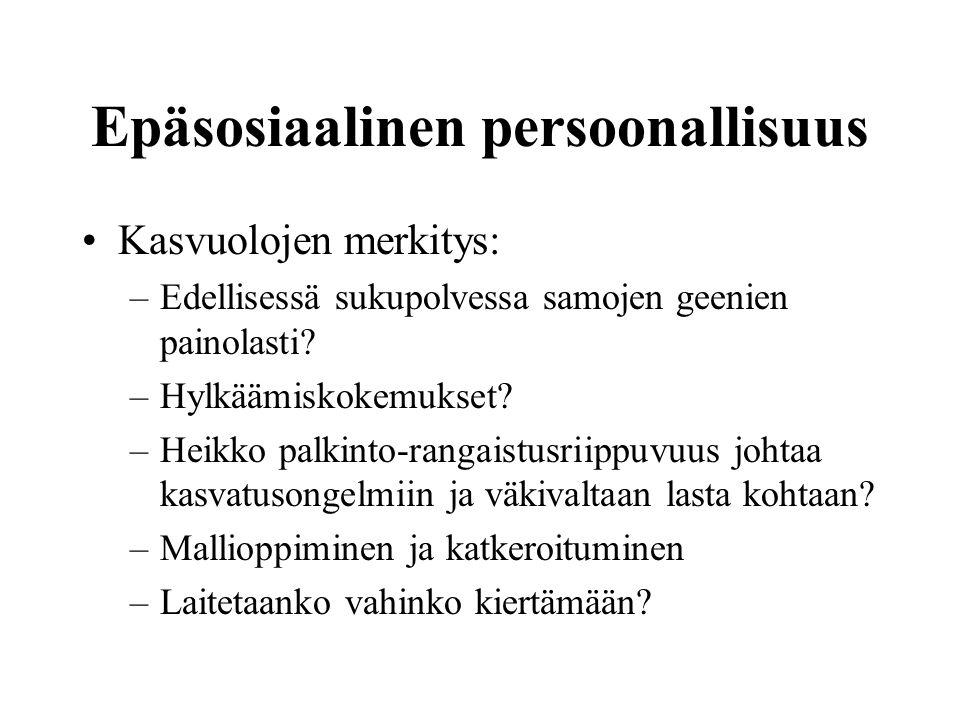 Epäsosiaalinen persoonallisuus