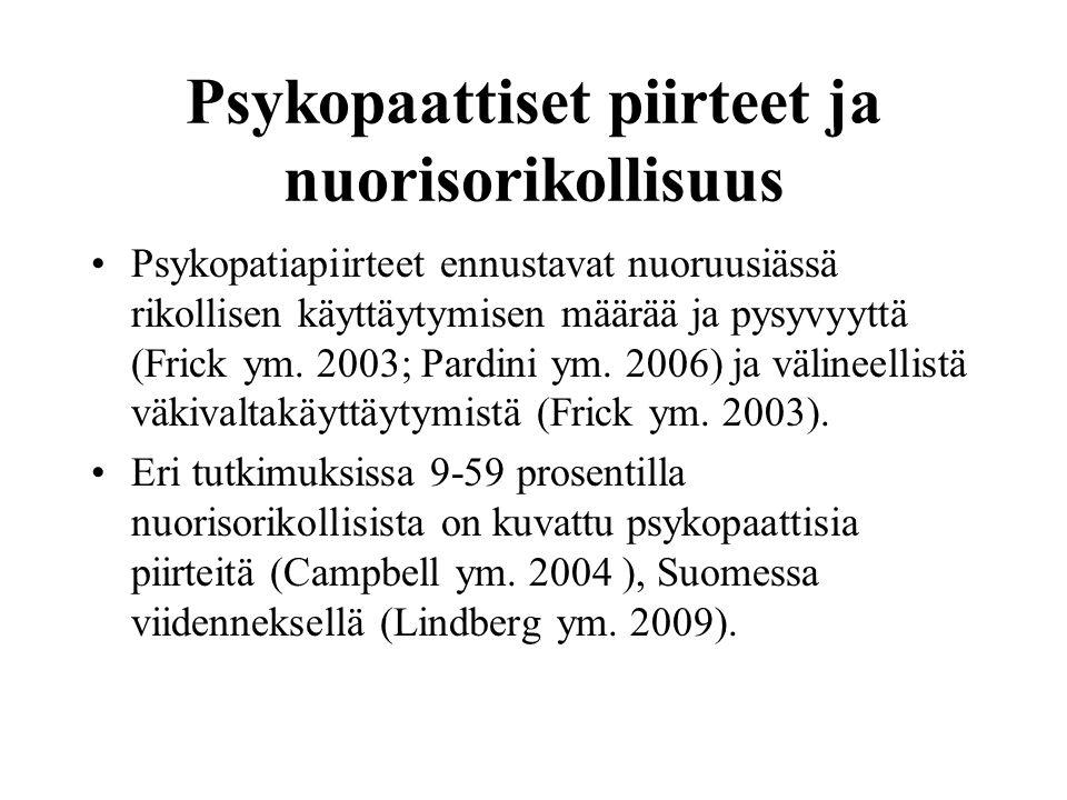Psykopaattiset piirteet ja nuorisorikollisuus
