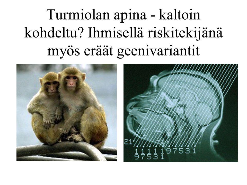 Turmiolan apina - kaltoin kohdeltu