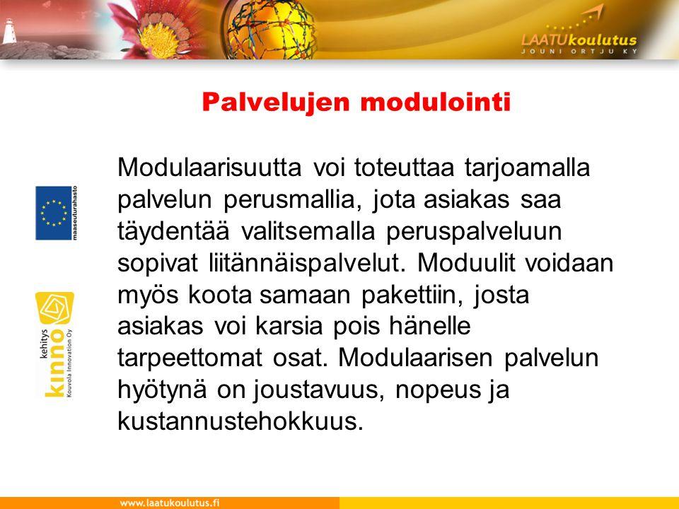 Palvelujen modulointi