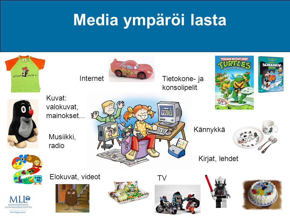 Media ympäröi lasta Internet Tietokone- ja konsolipelit
