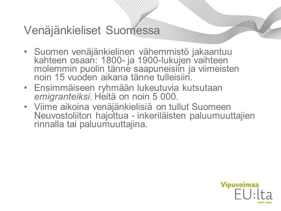 Venäjänkieliset Suomessa