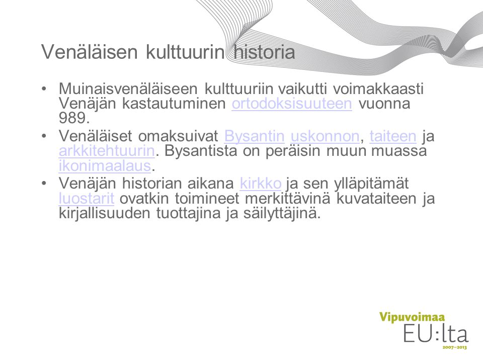 Venäläisen kulttuurin historia