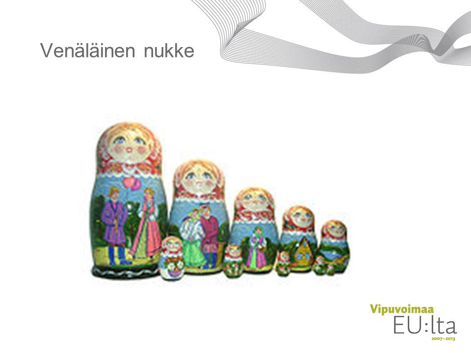 Venäläinen nukke A Matryoshka doll (Cyrillic матрёшка or матрешка) is a Russian nesting doll.