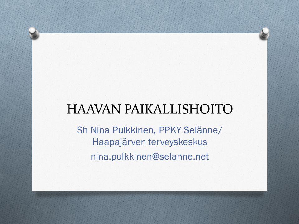 HAAVAN PAIKALLISHOITO