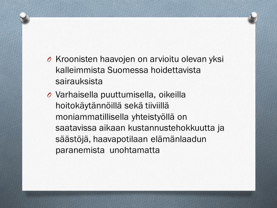 Kroonisten haavojen on arvioitu olevan yksi kalleimmista Suomessa hoidettavista sairauksista