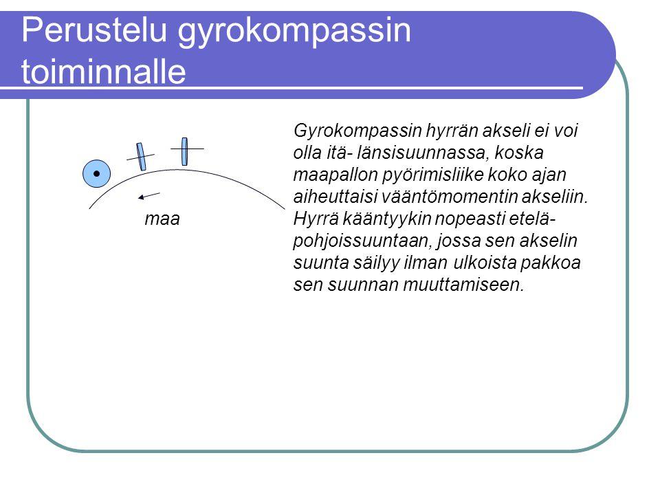 Perustelu gyrokompassin toiminnalle
