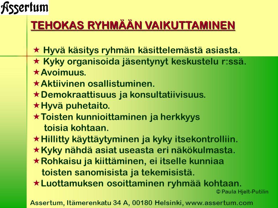 TEHOKAS RYHMÄÄN VAIKUTTAMINEN