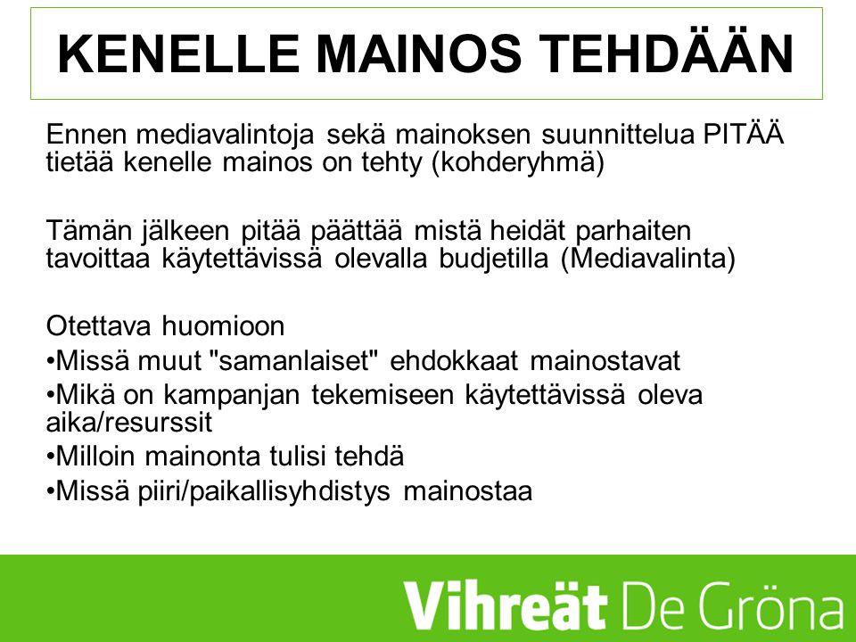 KENELLE MAINOS TEHDÄÄN