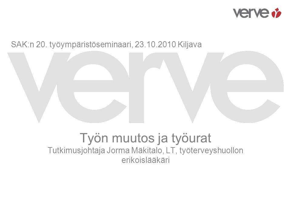 SAK:n 20. työympäristöseminaari, 23.10.2010 Kiljava