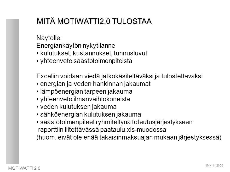 MITÄ MOTIWATTI2.0 TULOSTAA