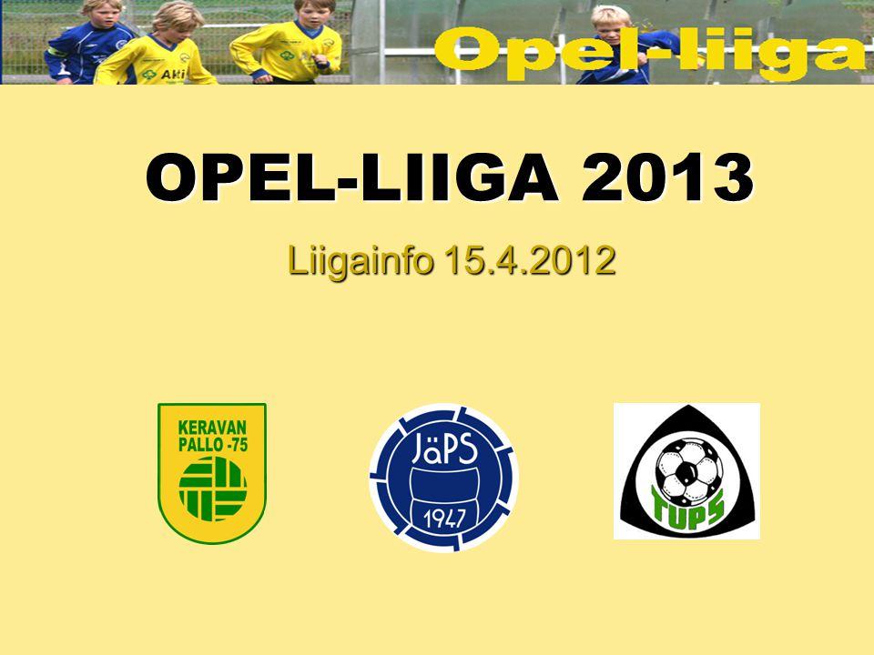 OPEL-LIIGA 2013 Liigainfo 15.4.2012