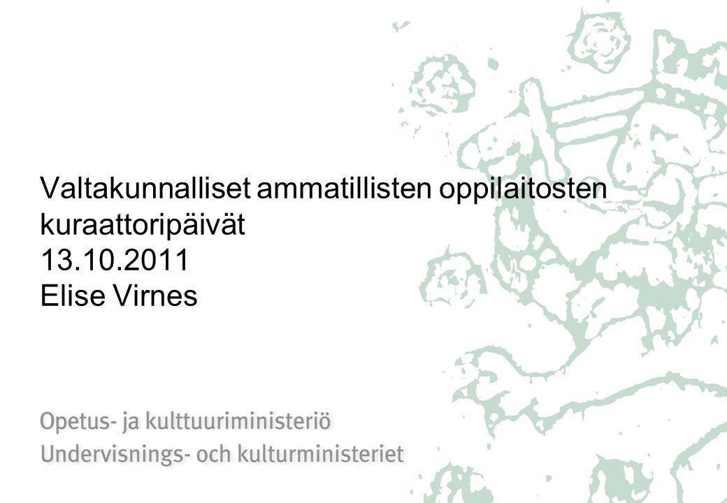 Valtakunnalliset ammatillisten oppilaitosten kuraattoripäivät 13. 10