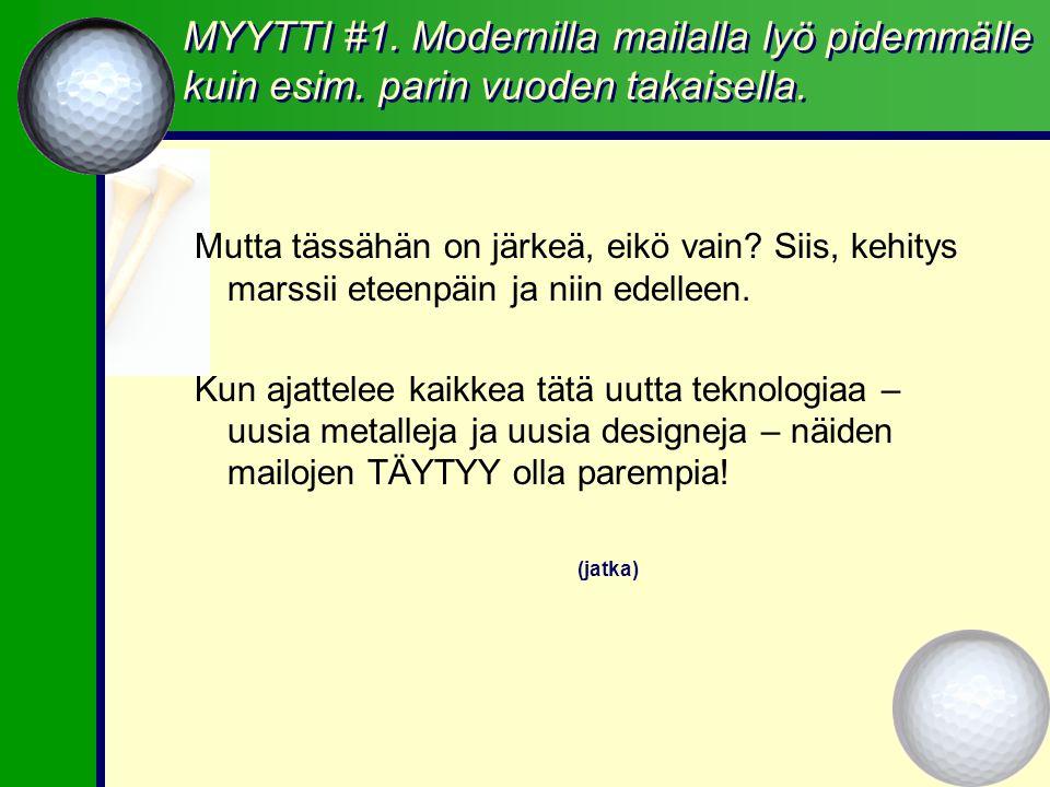 MYYTTI #1. Modernilla mailalla lyö pidemmälle kuin esim