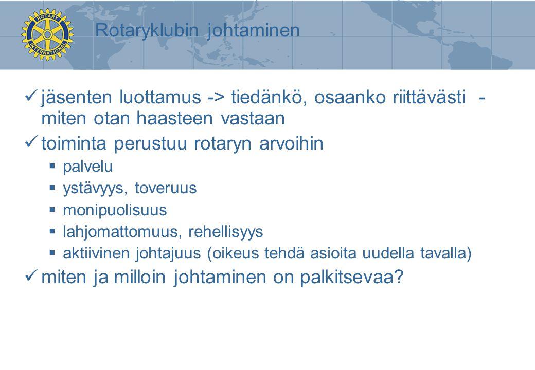 Rotaryklubin johtaminen