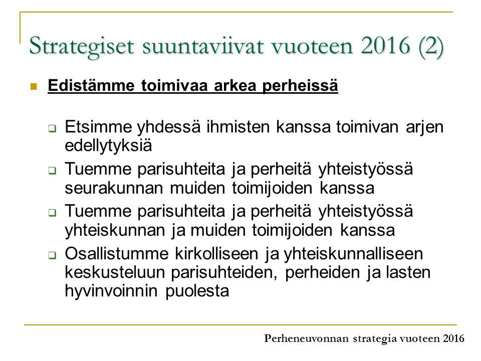 Strategiset suuntaviivat vuoteen 2016 (2)
