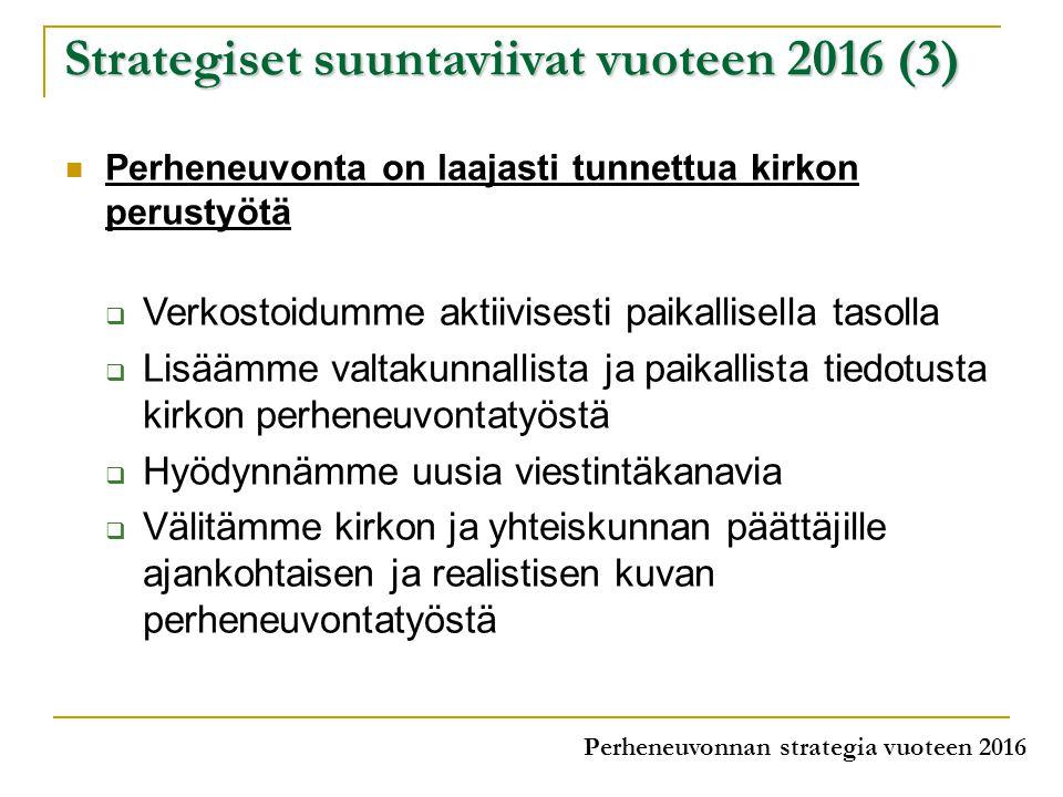 Strategiset suuntaviivat vuoteen 2016 (3)