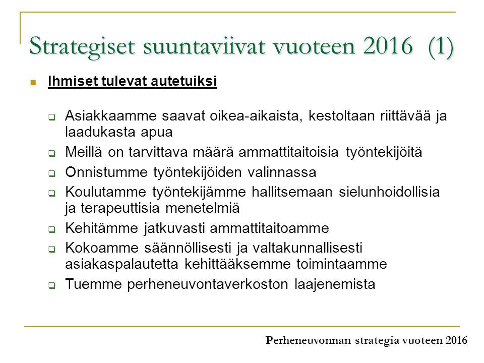 Strategiset suuntaviivat vuoteen 2016 (1)