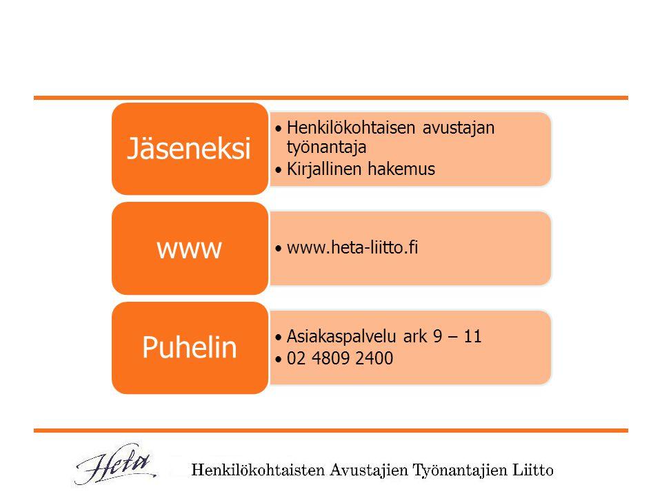 Jäseneksi www Puhelin Henkilökohtaisen avustajan työnantaja