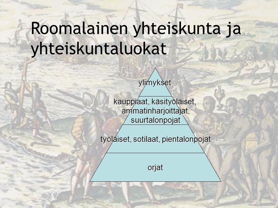 Roomalainen yhteiskunta ja yhteiskuntaluokat