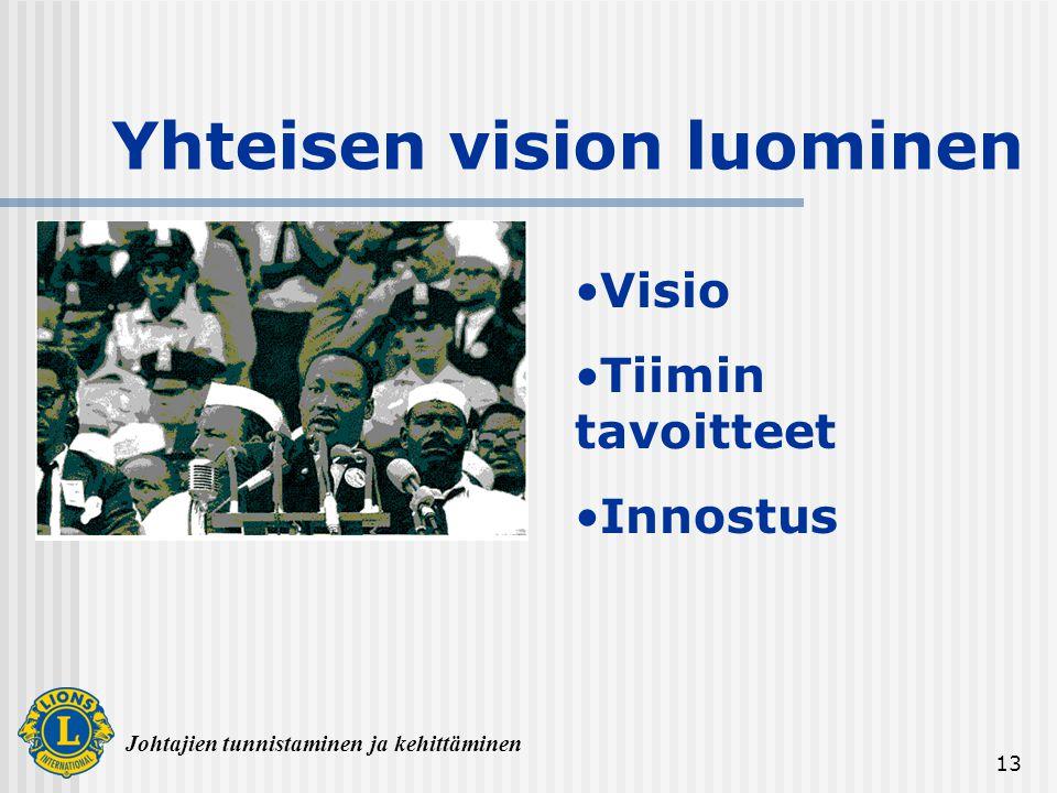 Yhteisen vision luominen