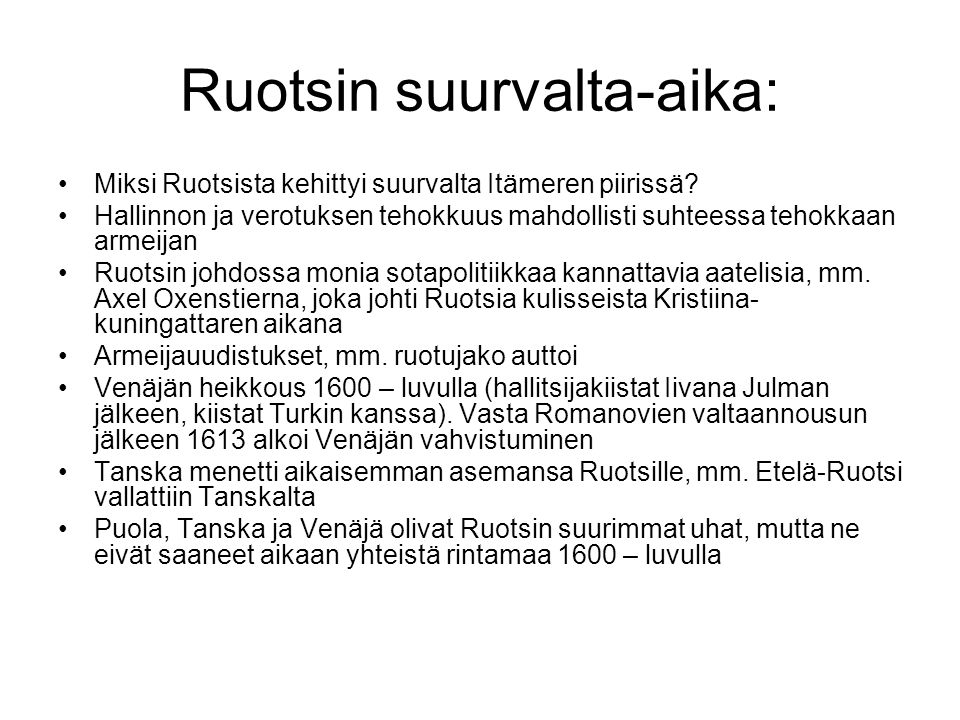 Ruotsin suurvalta-aika: