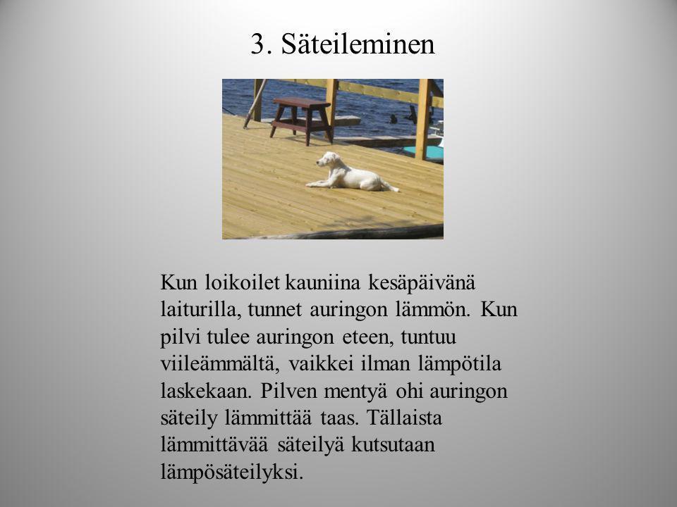 3. Säteileminen