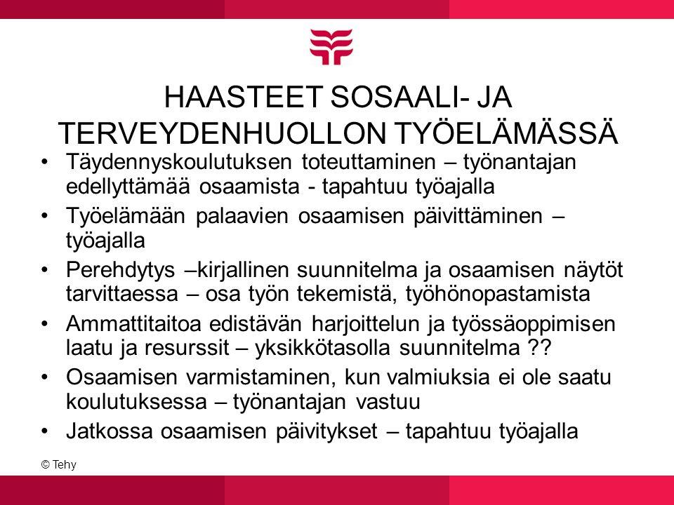 HAASTEET SOSAALI- JA TERVEYDENHUOLLON TYÖELÄMÄSSÄ