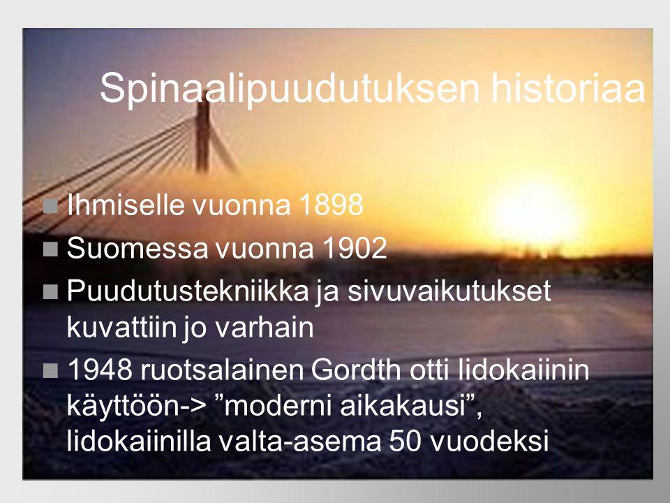 Spinaalipuudutuksen historiaa
